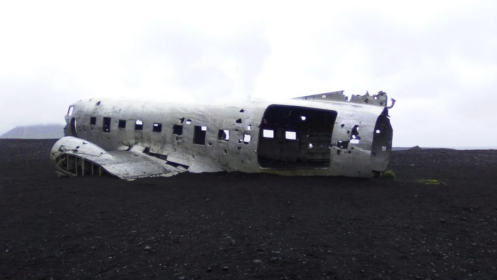 Avión abandonado