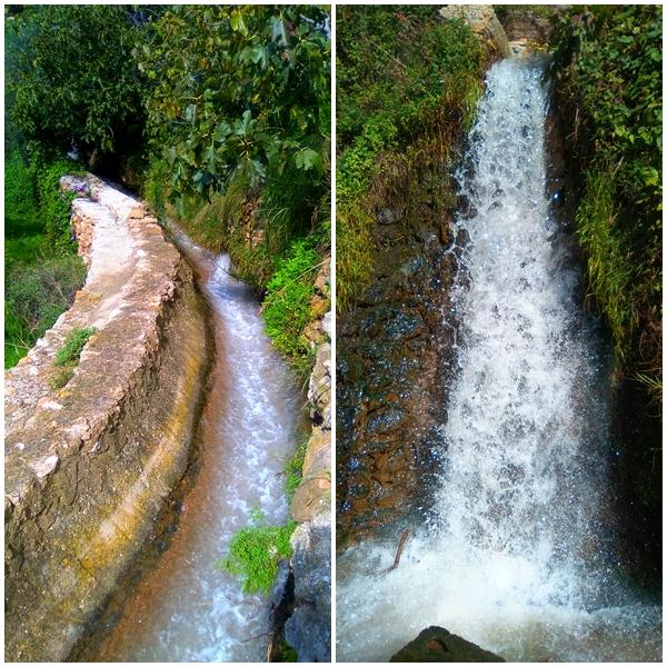 cascada y acequia