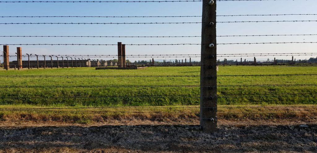Alambrada en Auschwitz