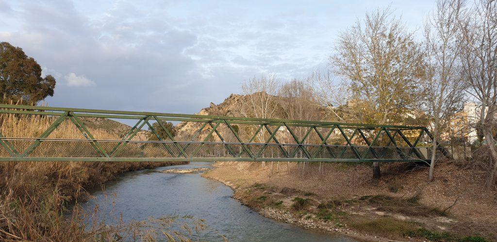 Puente de hierro en Abarán
