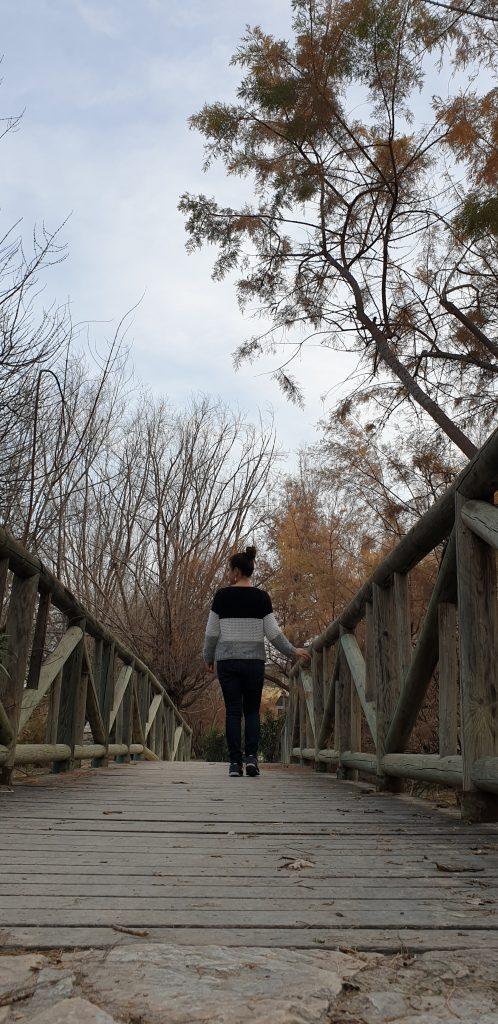 Puente de madera en Abarán