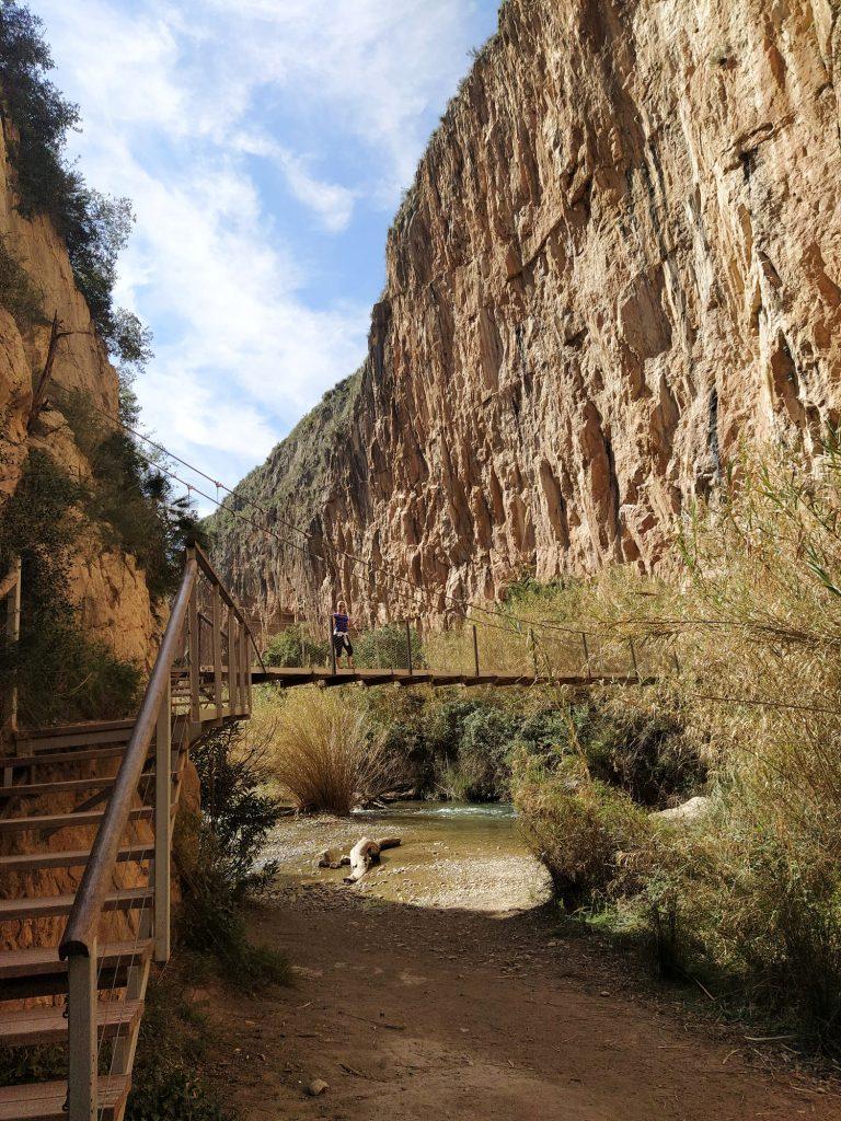 Puente colgante de la senda de los Pantaneros
