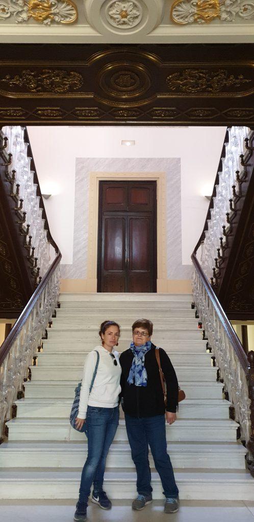 Escalera imperial de cristal