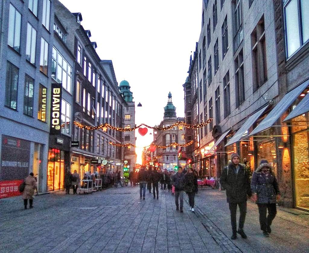 Calle Strøget, la más larga de Europa